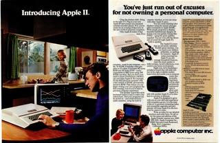 AppleII最初の写真広告 Byte誌1977年6月号