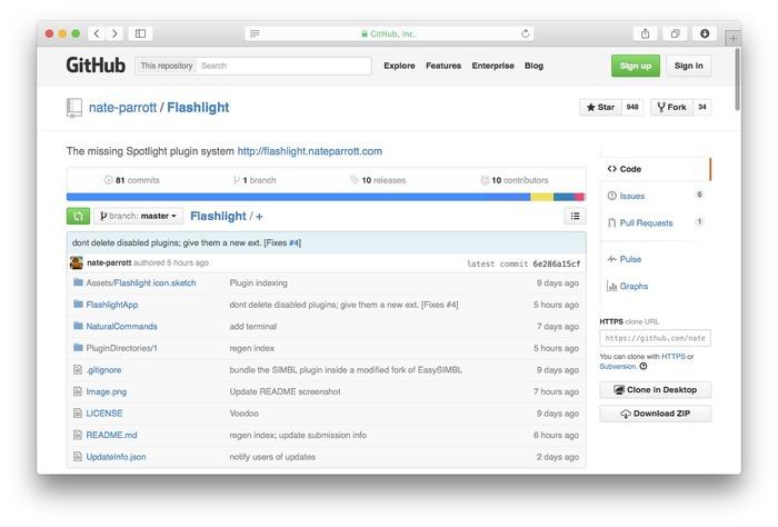 Flashlight-GitHub-Plugin
