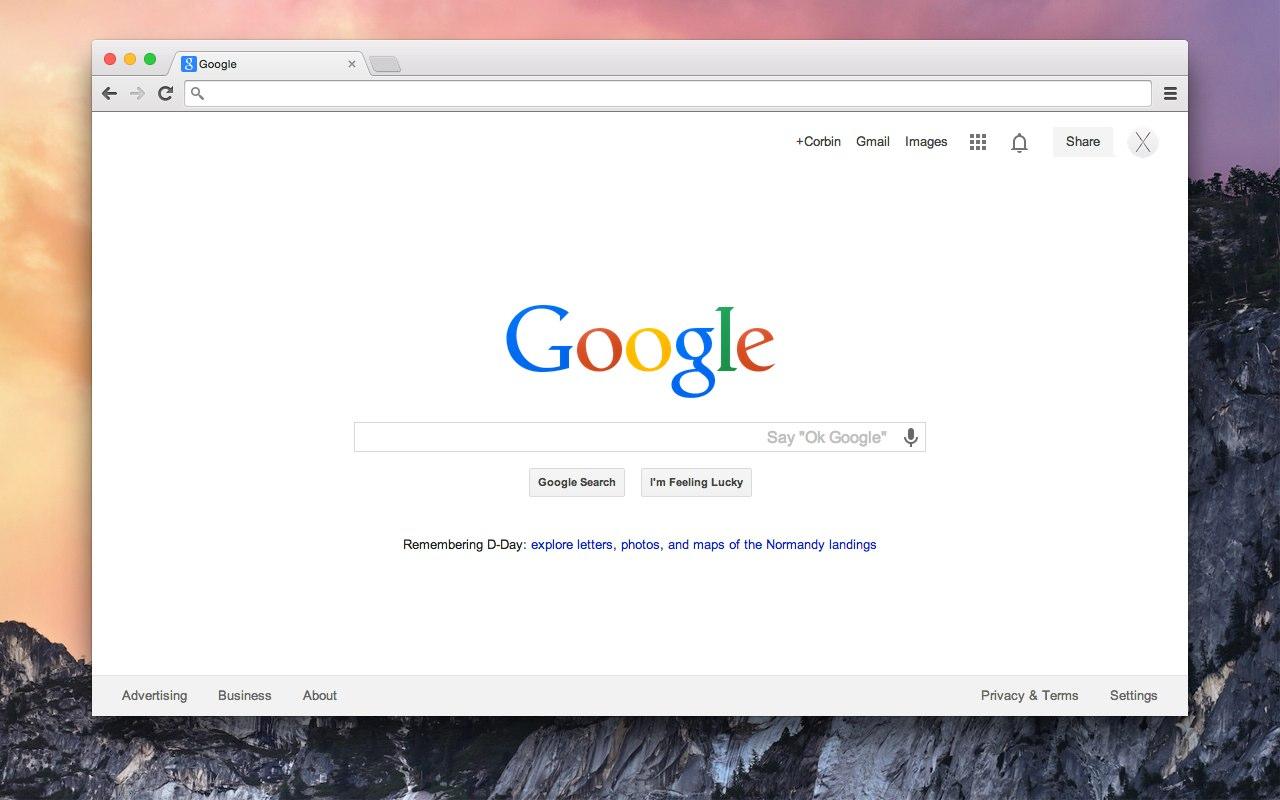 google chromeをos x 10 10 yosemite風にするテーマ yosemite が配布中