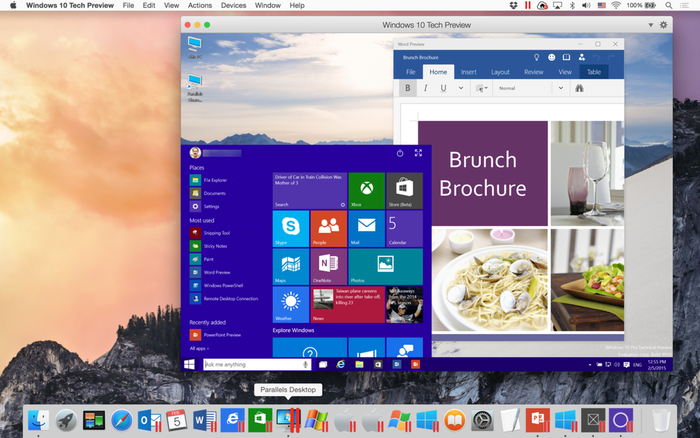 Parallels Desktop 10 Support Windows 10 Technical Preview