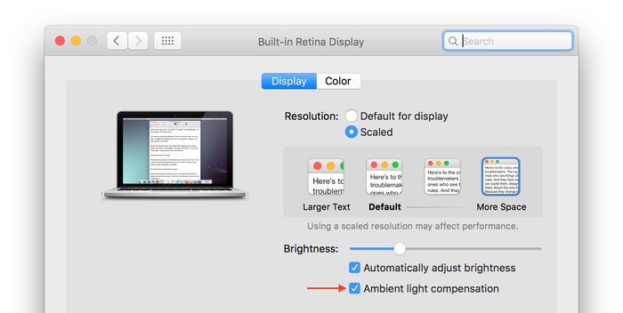 El-Capitan-Ambient-light-compensation