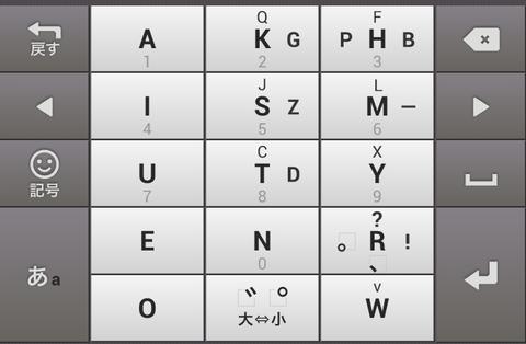 Google日本語入力の新入力方法「Godan キーボード」