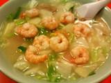 黄鶴楼-蝦仁湯麺(小エビそば)