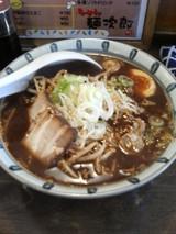 麺次郎-黒味噌とんこつ(こってり):細麺