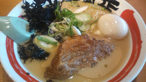 竹本商店-比内地鶏桃豚ラーメン+比内地鶏味玉