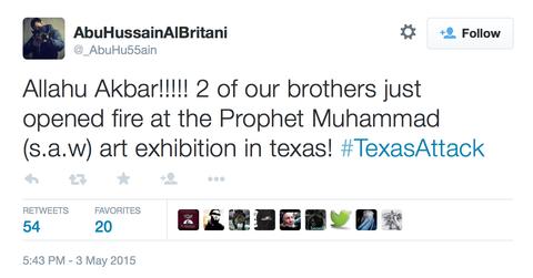 テキサス州でのムハンマド風刺画展襲撃事件6