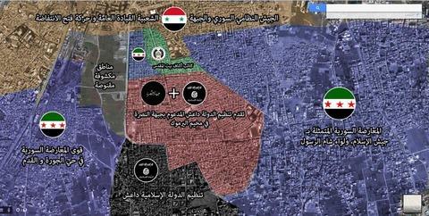 ヤルムーク・パレスチナ難民キャンプをめぐる戦況