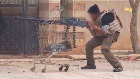 リビア東部のイスラム国キレナイカ県の戦闘員
