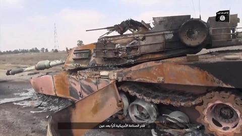 黒焦げのアメリカ製戦車