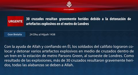 20170915_IS_Britain_London_Train_Bomb_Statement_Spanish