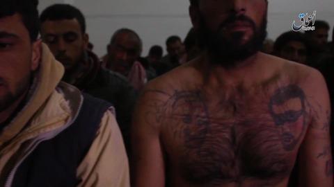 捕虜となったアサド独裁政権の兵士たち2