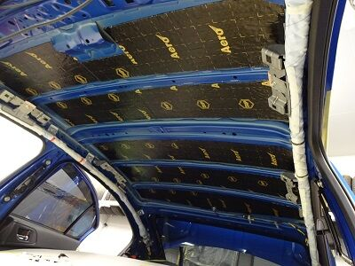 VAB ルーフデッドニング制振シート貼り込み