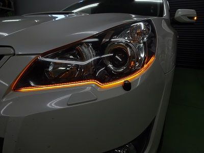 レガシィBR9 シーケンシャルウインカー取付 オレンジ