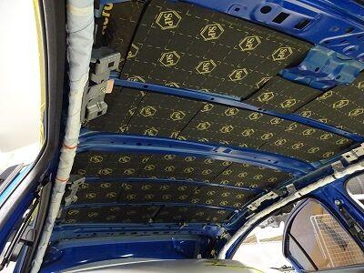 VAB ルーフデッドニング断熱・遮音・吸音シート貼り込み