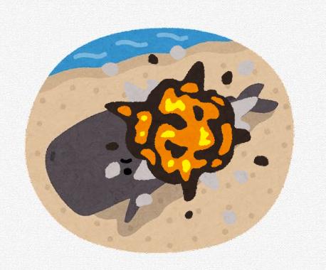 【悲報】クジラさん、破裂してしまう