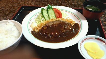 ハンバーグ定食680円