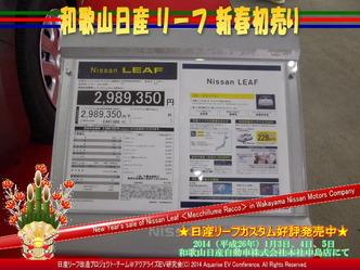 和歌山日産リーフ新春初売り02@日産リーフ改造