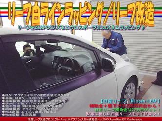 リーフ白ラインラッピング(3)/リーフ改造01