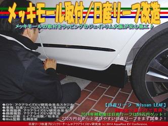 メッキモール取付/日産リーフ改造04