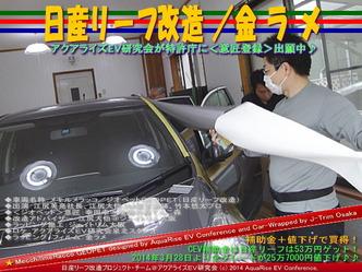 日産リーフ改造/金ラメ@アクアライズEV研究会08