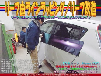 リーフ白ラインラッピング/リーフ改造01