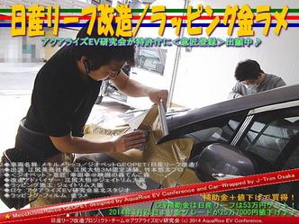 日産リーフ改造/ラッピング金ラメ@アクアライズEV研究会02