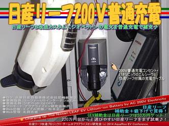日産リーフ200V普通充電@リーフカスタム04