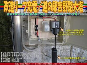 改造リーフ充電/道の駅吉野路大塔03