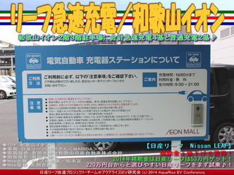 リーフ急速充電/和歌山イオン02
