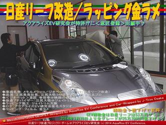 日産リーフ改造/ラッピング金ラメ@アクアライズEV研究会07