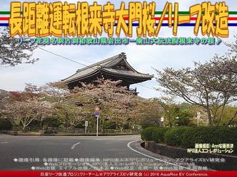 長距離運転根来寺大門桜(2)/リーフ改造05