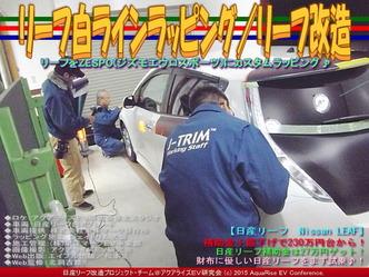 リーフ白ラインラッピング/リーフ改造03