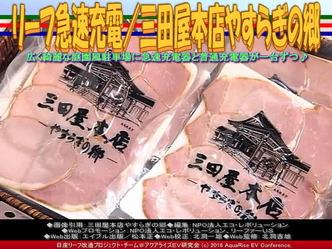 三田屋本店で急速充電/リーフ改造02