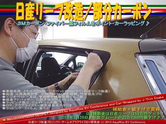 日産リーフ改造/部分カーボン@アクアライズEV研究会04