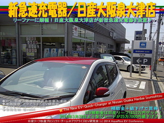新急速充電器/日産大阪泉大津店@日産リーフ改造10