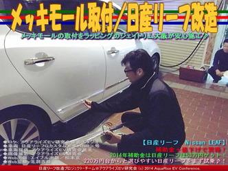 メッキモール取付/日産リーフ改造05