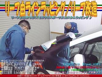 リーフ白ラインラッピング(4)/リーフ改造02