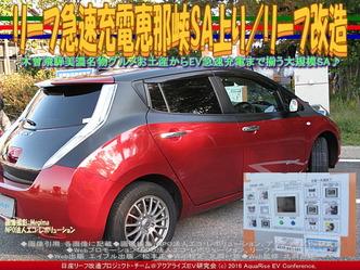 リーフ急速充電恵那峡SA上り/リーフ改造03
