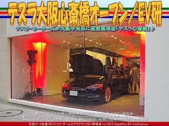 テスラ大阪心斎橋オープン(2)/EV研01 ▼クリックで640x480に拡大
