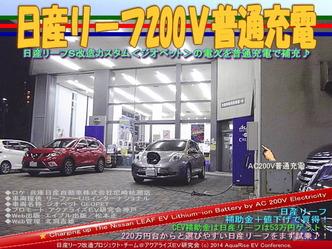 日産リーフ200V普通充電@リーフカスタム10
