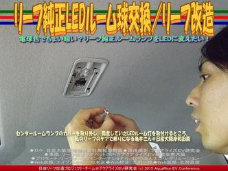 リーフ純正LEDルーム球交換/リーフ改造03 ▼クリックで640x480に拡大