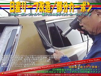 日産リーフ改造/部分カーボン@アクアライズEV研究会01