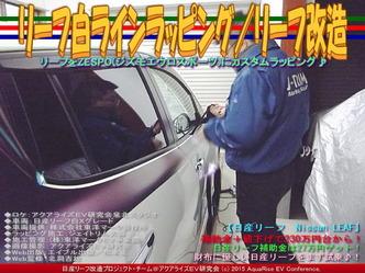 リーフ白ラインラッピング(3)/リーフ改造03