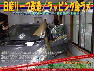 日産リーフ改造/ラッピング金ラメ@アクアライズEV研究会06