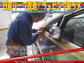 日産リーフ改造/ラッピング金ラメ@アクアライズEV研究会09