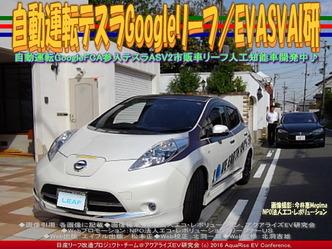 自動運転テスラGoogleリーフ/EVASVAI研03