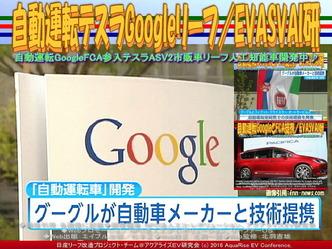 自動運転テスラGoogleリーフ/EVASVAI研01
