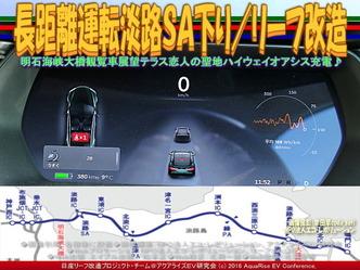 長距離運転淡路SA下り/リーフ改造02