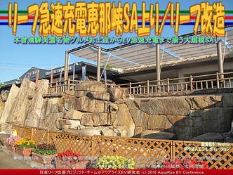 リーフ急速充電恵那峡SA上り/リーフ改造01