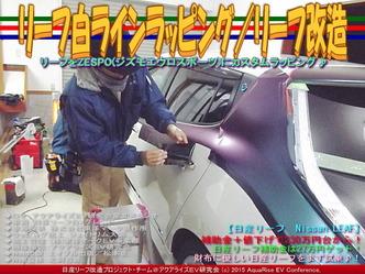 リーフ白ラインラッピング(2)/リーフ改造01